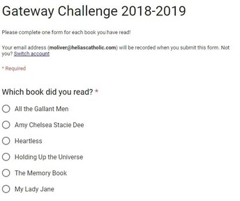 Gateway Challenge Form is FINALLY Here!