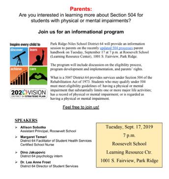 504 Informational Meeting