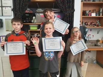 5th grade Perfect Attendance Awards for February 2018