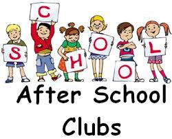 After-school Clubs begin on October 2nd
