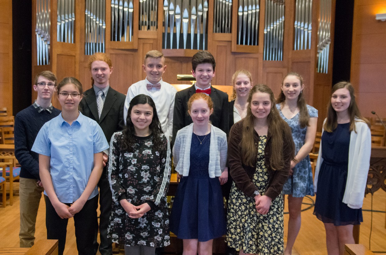May 2018 Young Organist Collaborative Students