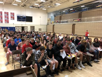 Senior graduation rehearsal