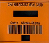 Backpack Breakfast Meal Cards PK-4th