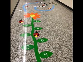 Flower garden sensory path