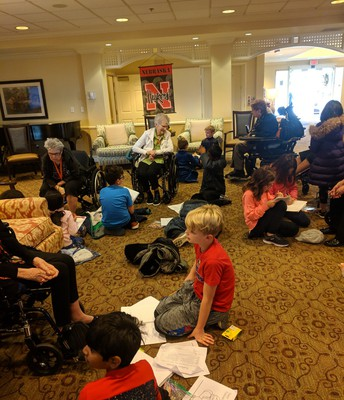 Swanson students visit Sunrise Senior Living