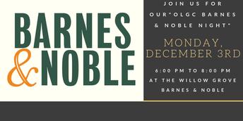 OLGC Barnes & Noble Night- December 3, 2018