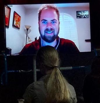 Scott MacIntyre on large Zoom screen