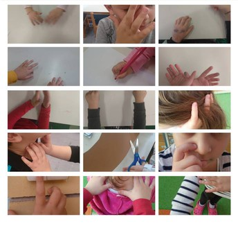 Photo collage of fingers