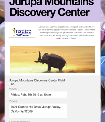 Jurupa Mountains Discovery Center 2/8/2019