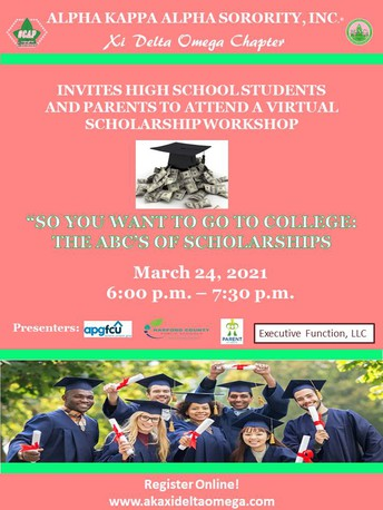 """Upcoming Parent Academy Sponsored Event - """"So You Want to Go to College: The ABCs of Scholarships"""""""