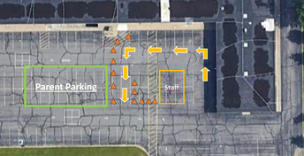 New Traffic Pattern for the Morning in South Lot