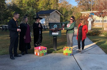 Little Free Library Ribbon Cutting