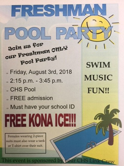 Pool Party Information