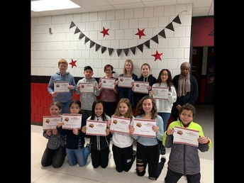 7th Grade Students of the Month - December