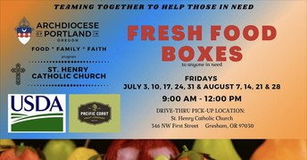 Food Boxes Continue at St. Henry's!