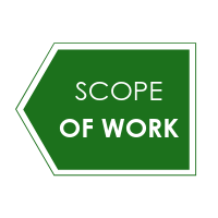 A graphic titled scope of work
