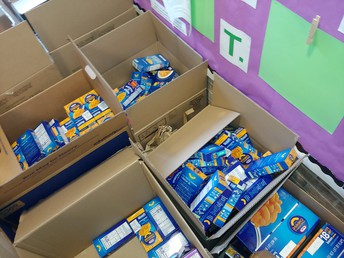 Boxes of Mac & Cheese