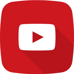 Red youtube background with the play button in white