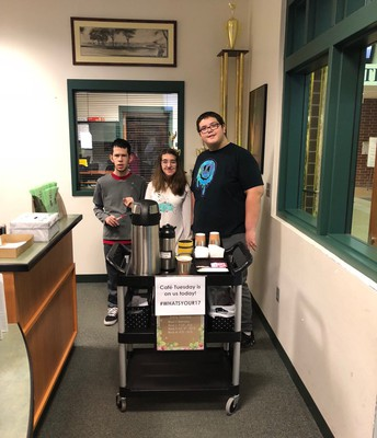DHS Cafe Tuesday  offering free coffee to staff!