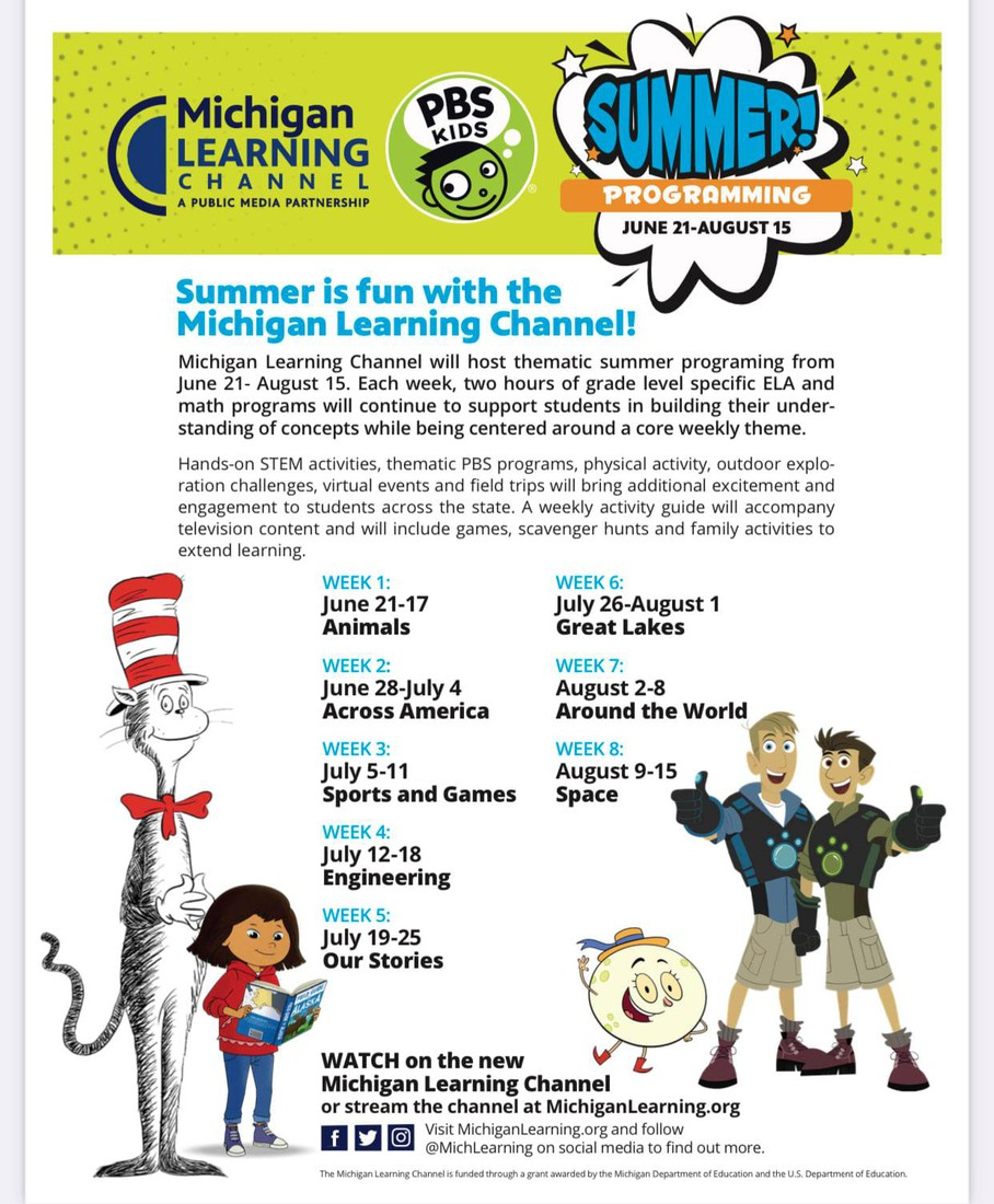 SUMMER IS FUN WITH THE MICHIGAN LEARNING CHANNEL