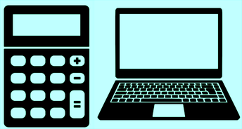 Laptops + Calculators