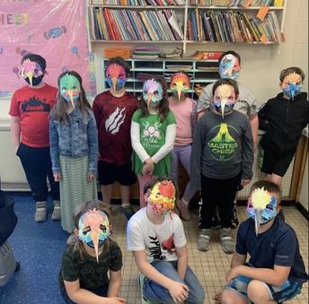 CES 2nd Graders Create Hummingbird Masks