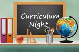 Curriculum Night-Tuesday, September 15, 2020