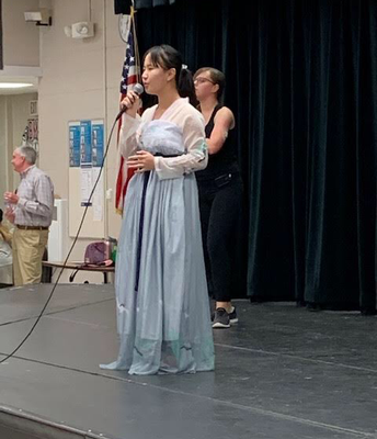Chinese students from BHS danced and sang