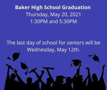 Baker High School Graduation 2021