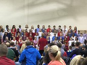 Choir performs for Blue Ribbon Ceremony