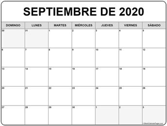 Image of september calendar
