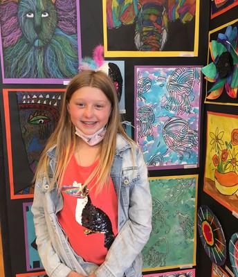 4th Grade Artist, Miss Lila Holdman