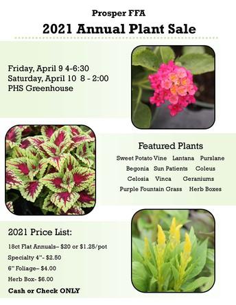 Prosper FFA Annual Plant Sale