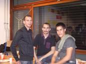 Jimmy, Ángel y Rodrigo en el Berufskolleg de Siegburg