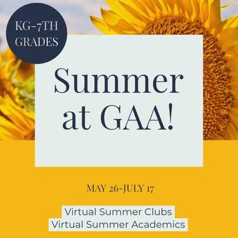 Virtual Summer Clubs & Virtual Summer Academics