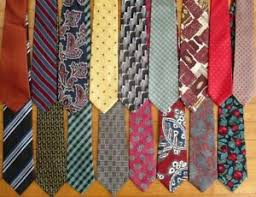 our supply of neckties is dwindling!