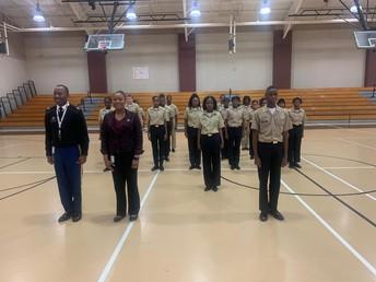 Ballard-Hudson's Middle School Junior Leadership Corp (JLC) is on the Move!