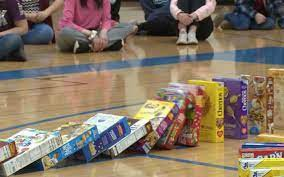 Wildcats Collected 306 Boxes of Cereal!
