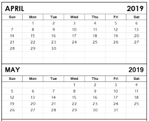 April/May Dates to Remember