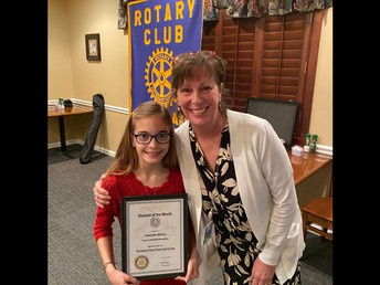 ROTARY STUDENT FOR THE MONTH OF DECEMBER - GABRIELLA WILSON!!