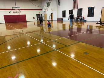 Physical Education classes take to using scooters!