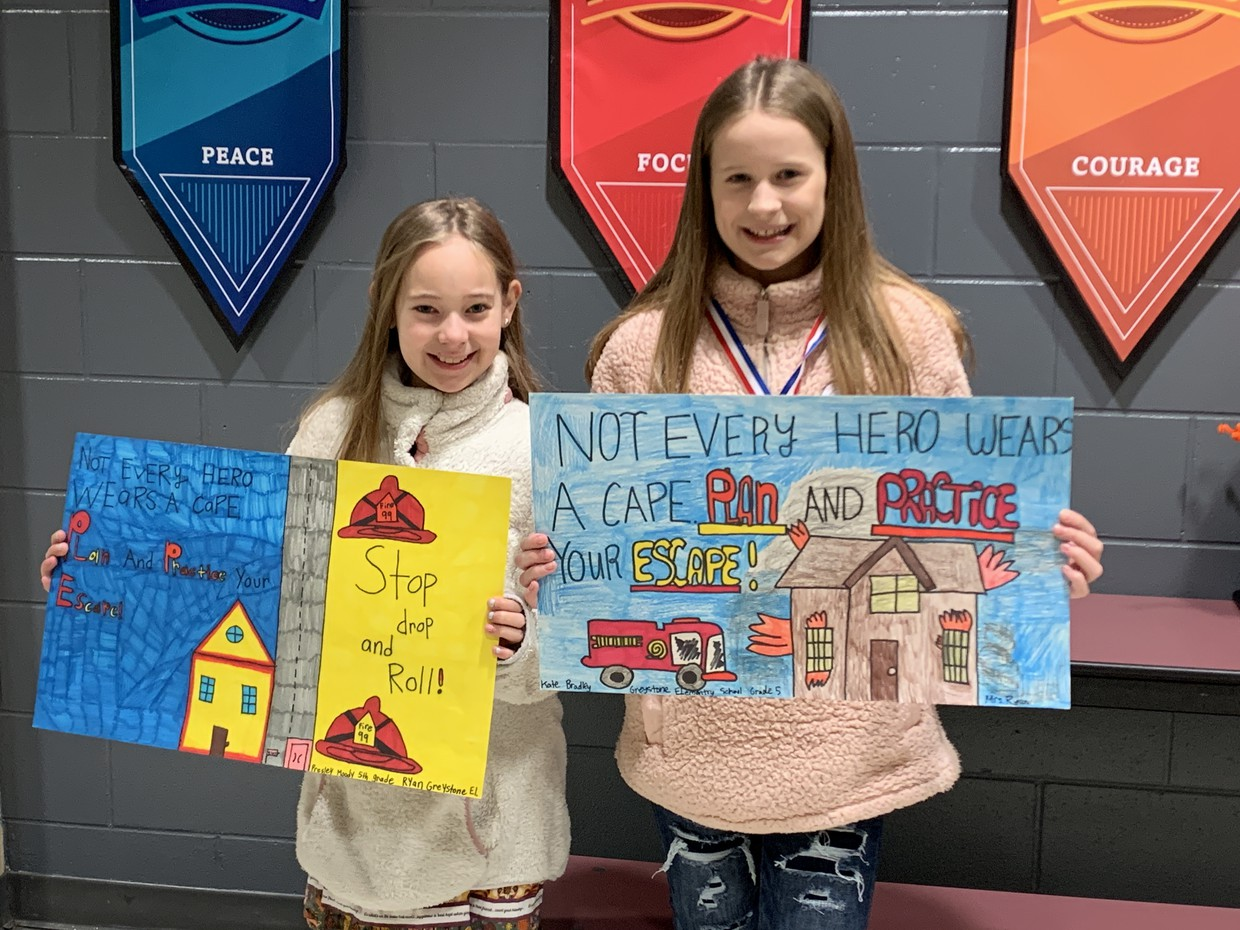 5th Grade Fire Prevention poster contest winners