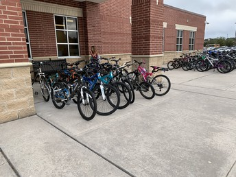 Love TCI being close enough for students to ride their bikes to school!