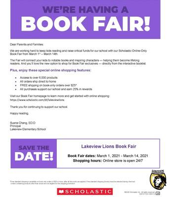 Book Fair 3/1~3/14