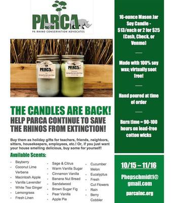 PARCA Candles