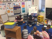 Reading to our Pre-K Students