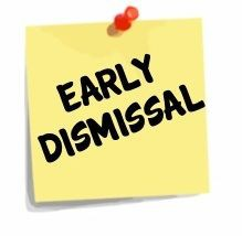 EARLY DISMISSAL DECEMBER 13
