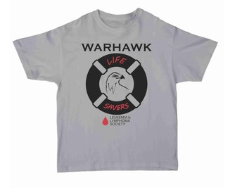 Contact Briana McNeal if you would like to purchase a Warhawk Lifesaver t-shirt that benefits the Lymphoma Society.