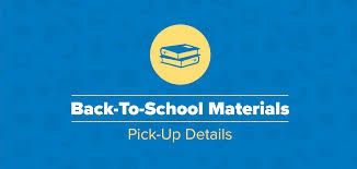 Materials Pick Up for 10th - 12th grade Students