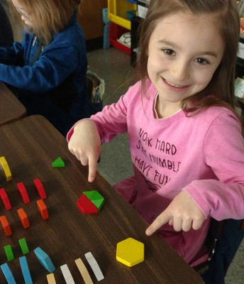 Shapes in 1st grade!